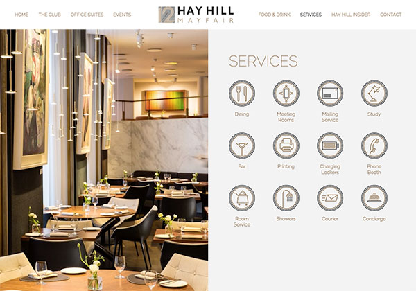 12 Hay Hill - Services