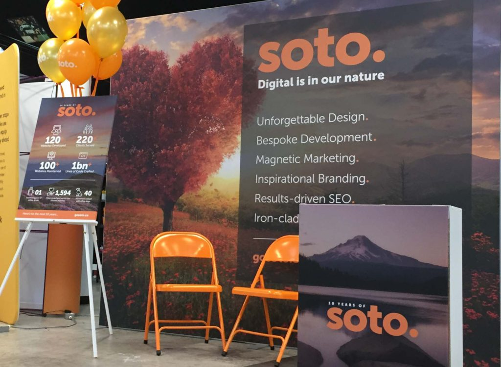 The Soto stand at BSSW 2019