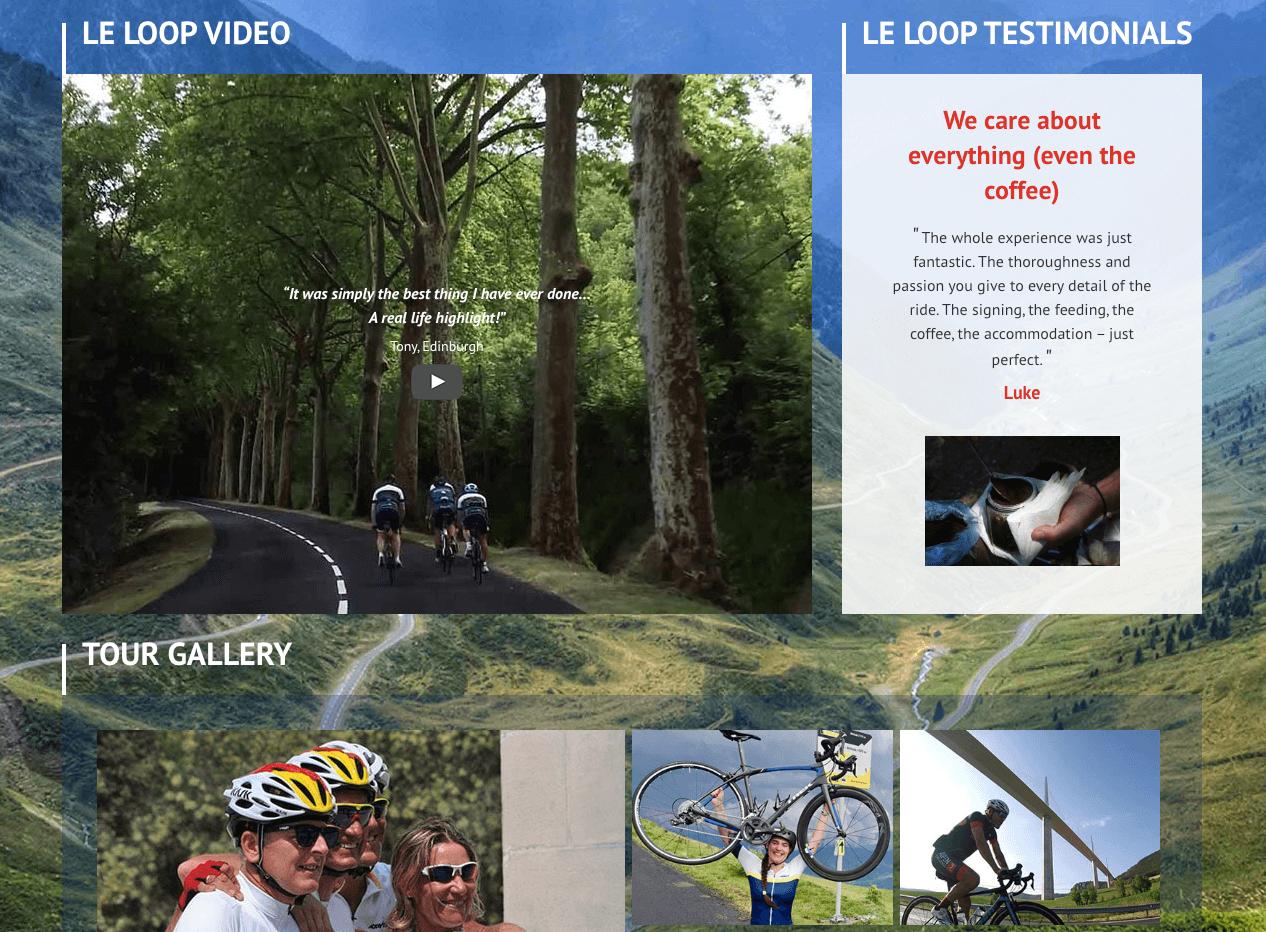 Le loop home page