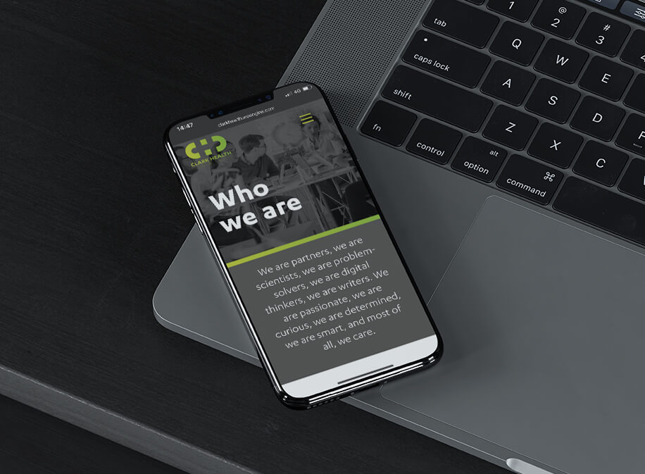 Who we are page on mobile