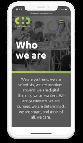 Clark Health Mobile Homepage