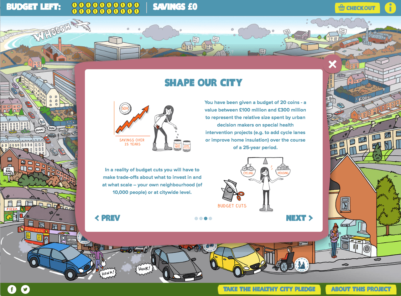 Shape our city game