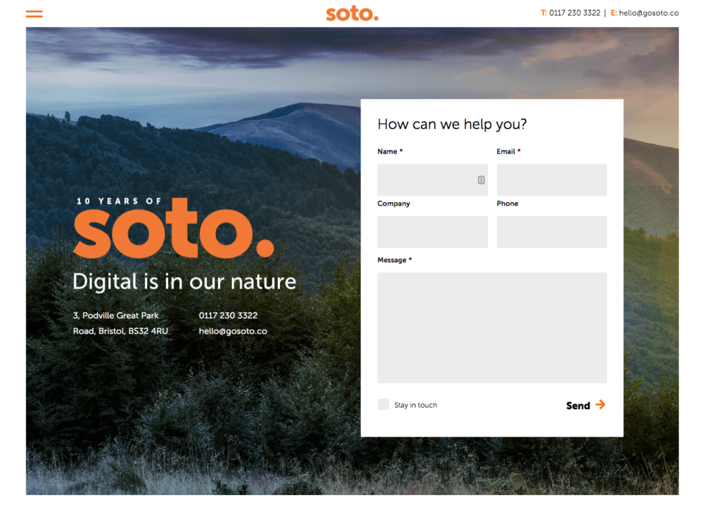 Soto contact form