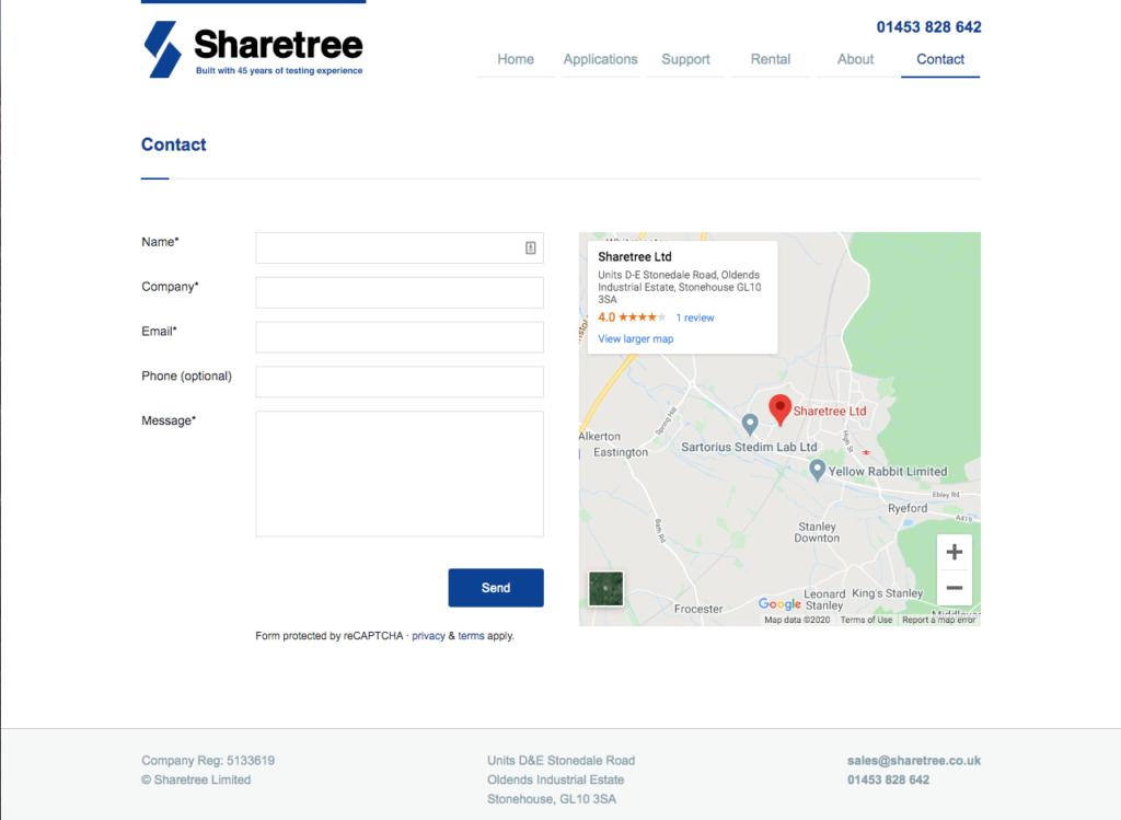 Sharetree contact form